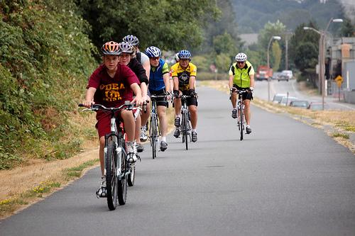 Bicyclists hope that a new bike trail like the Burke-Gilman Trail (pictured) will be created along the old rail line from Renton to Woodinville