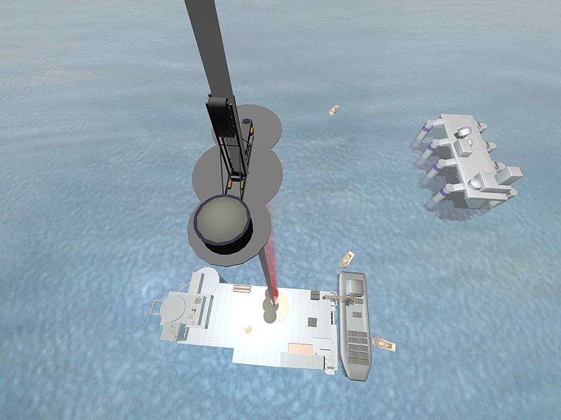 One concept has the space elevator tied to a platform in the ocean, near the equator
