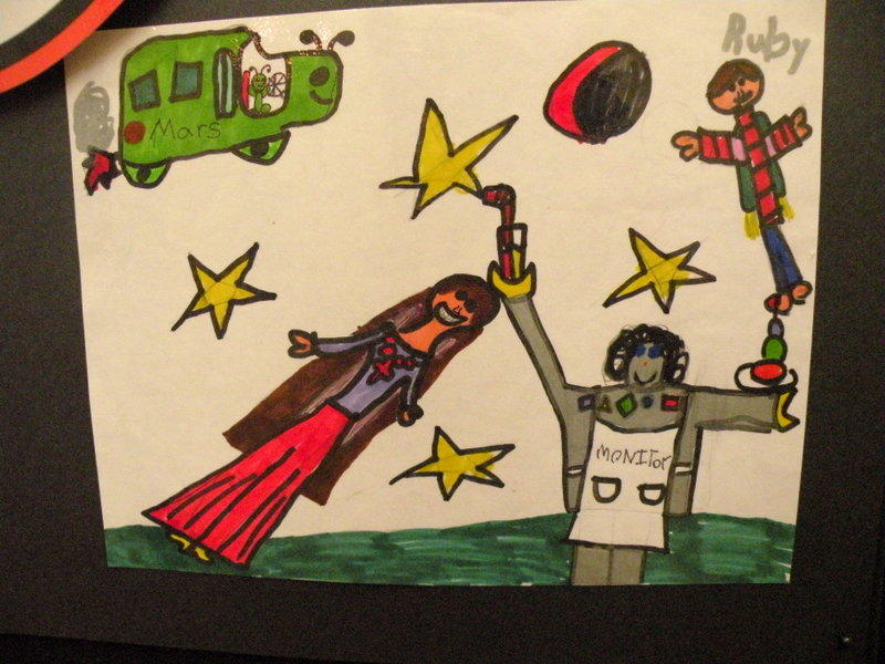Ruby Kresge envisions schools on space stations. School space busses will be driven by aliens.