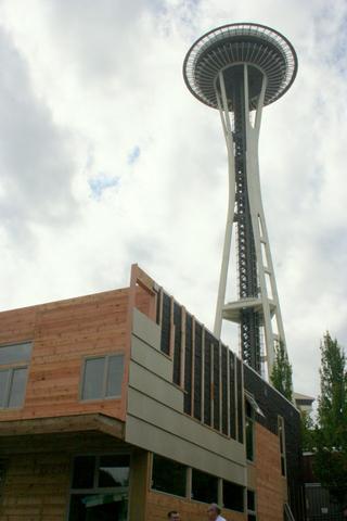 Seattle Center's 'House of the Immediate Future' in situ.