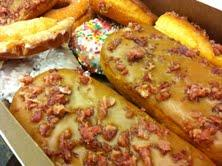 The maple/bacon bar at Countryside Donut House
