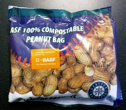 Will this packaging help the Mariners reach a goal of 90 percent recycling at Safeco Field? The team's operations manager says plastic films that enclose snacks are a missing link in their strategy for responsibly disposing of fans' trash.