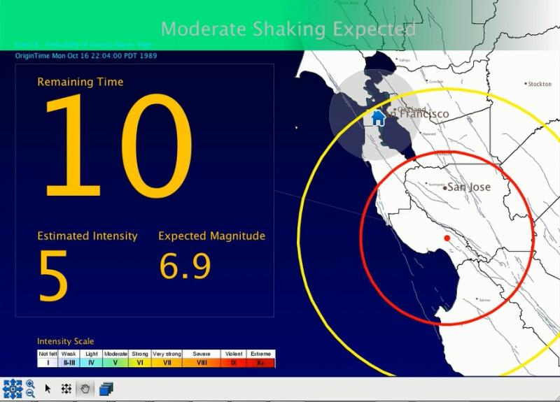 A pilot project shows what the quake warnings might look like.
