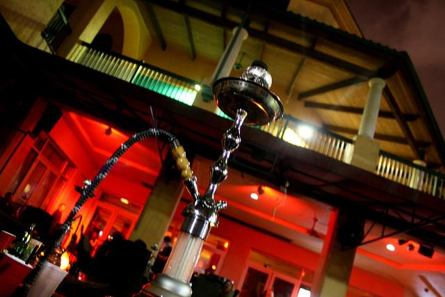 A water pipe in a hookah lounge in Ft Lauderdale