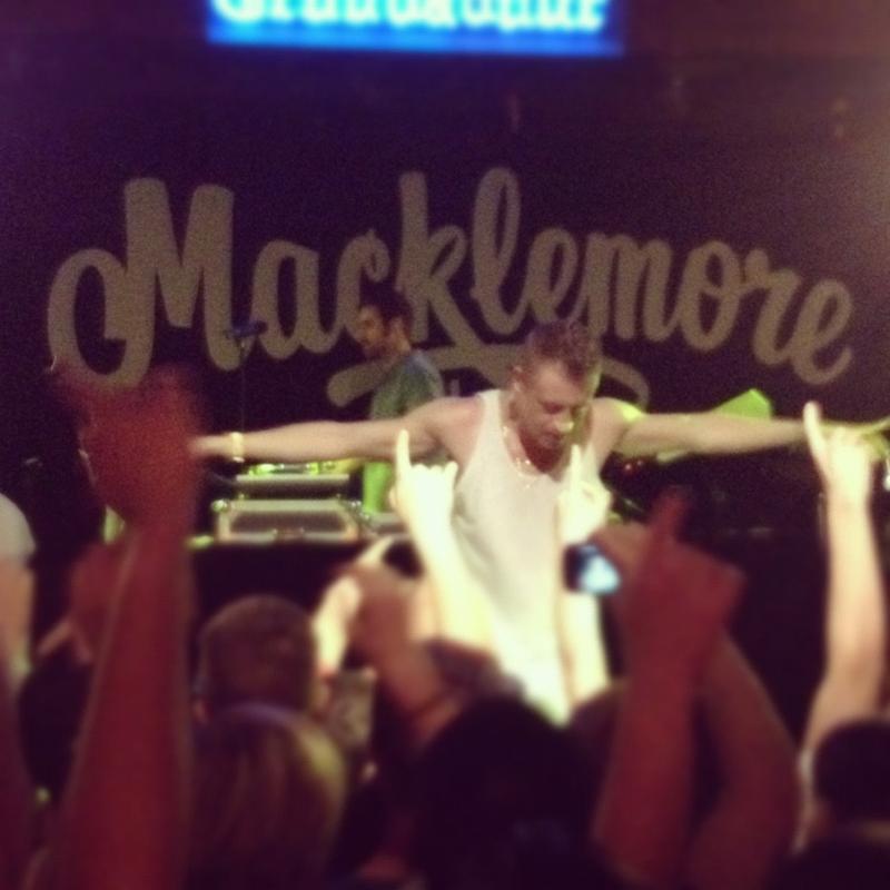 Macklemore live in concert.