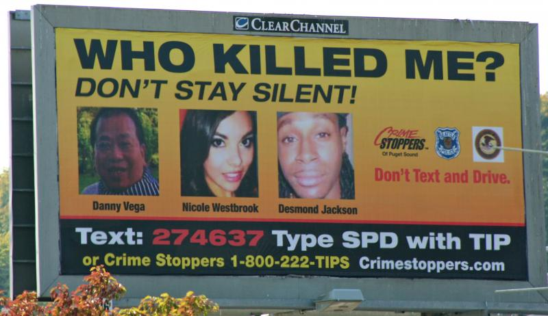 Billboard on the corner of Martin Luther King Jr. Way S. and S. Grahm St.