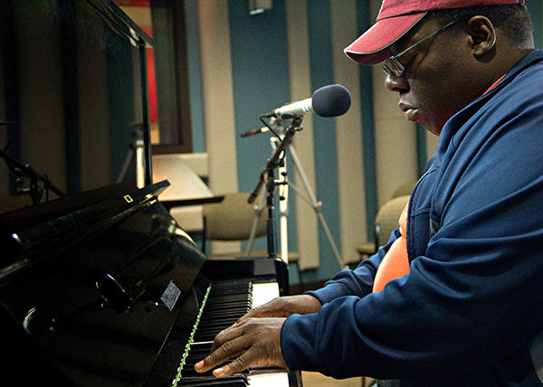 Pianist Cyrus Chestnut performing live in the KPLU Seattle studios on August 28, 2012.