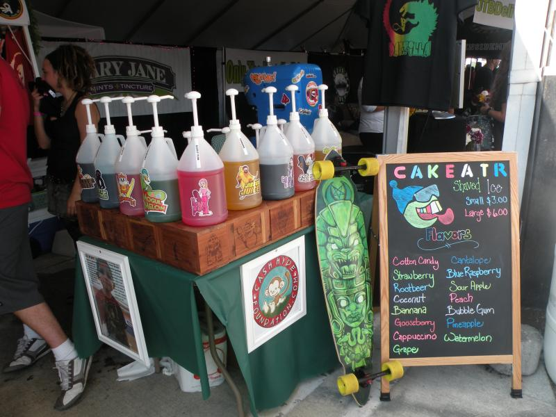Bubble gum-flavored marijuana snow cones? Just one of the many options available at the Medical Cannabis Cup