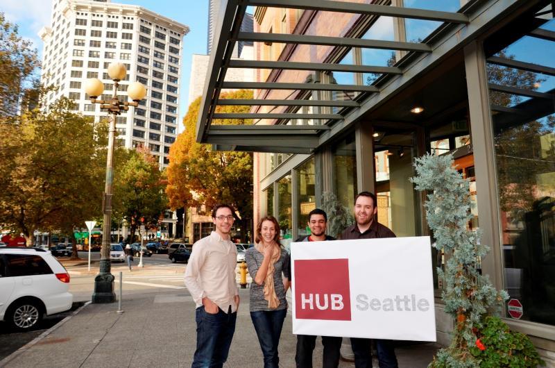 Hub Seattle members, from left, Jacob Colker, Lindsey Engh, Kimo Jordan, Brian Howe.