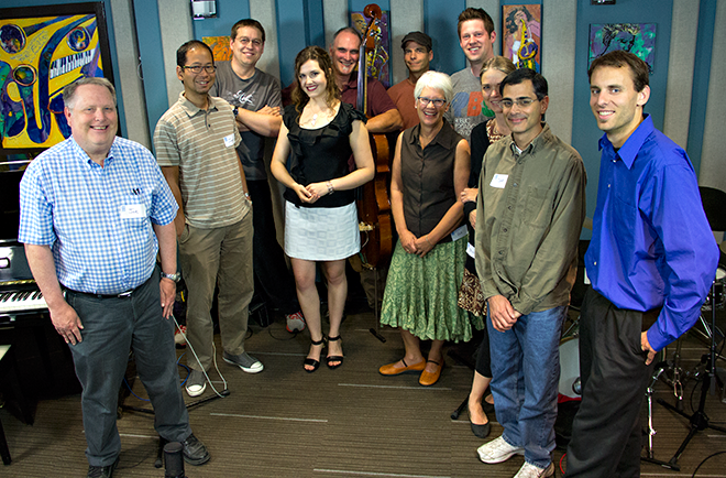 A lucky group of KPLU Leadership Circle members were able to sit in on this studio session with Halie Loren.