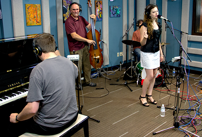Halie Loren and her trio performing live in the KPLU Seattle Studios on September 5, 2012.