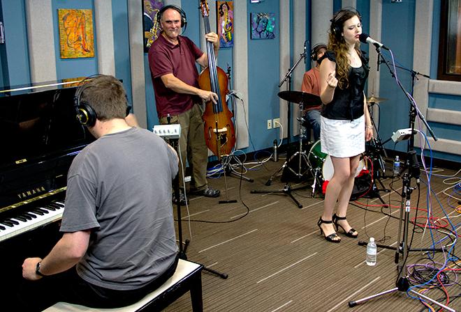 Halie Loren and her trio performing live in the KPLU Seattle Studios on September 5, 2012.