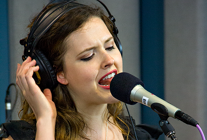 Halie Loren performing live in the KPLU Seattle studios on September 5, 2012.