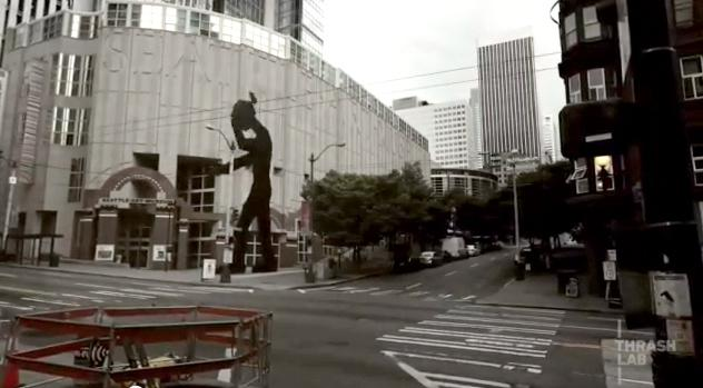 A screen grab from the video Empty Seattle.