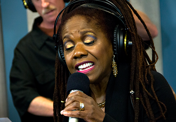 Catherine Russell performing live in the KPLU Seattle studios.