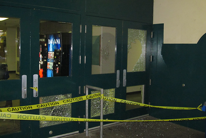 Staff at Auburn High School found more than 50 windows damaged by vandalism this week.