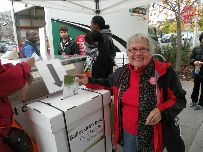 """I guess I'm a little bit of a procrastinator. But I came here to drop it in the box too so that I could feel like I wasn't just voting by mail,"" said Shirley Tarrant."