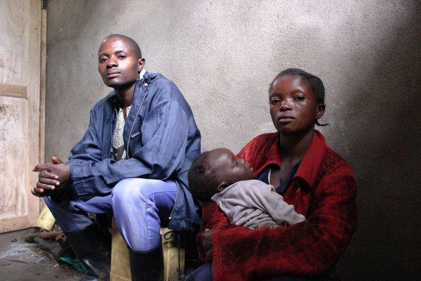 A refugee couple fled their village due to the fighting earlier this year in eastern Democratic Republic of Congo