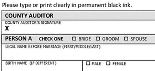 New forms from the state reflect gender-neutral terms for marrying couples.