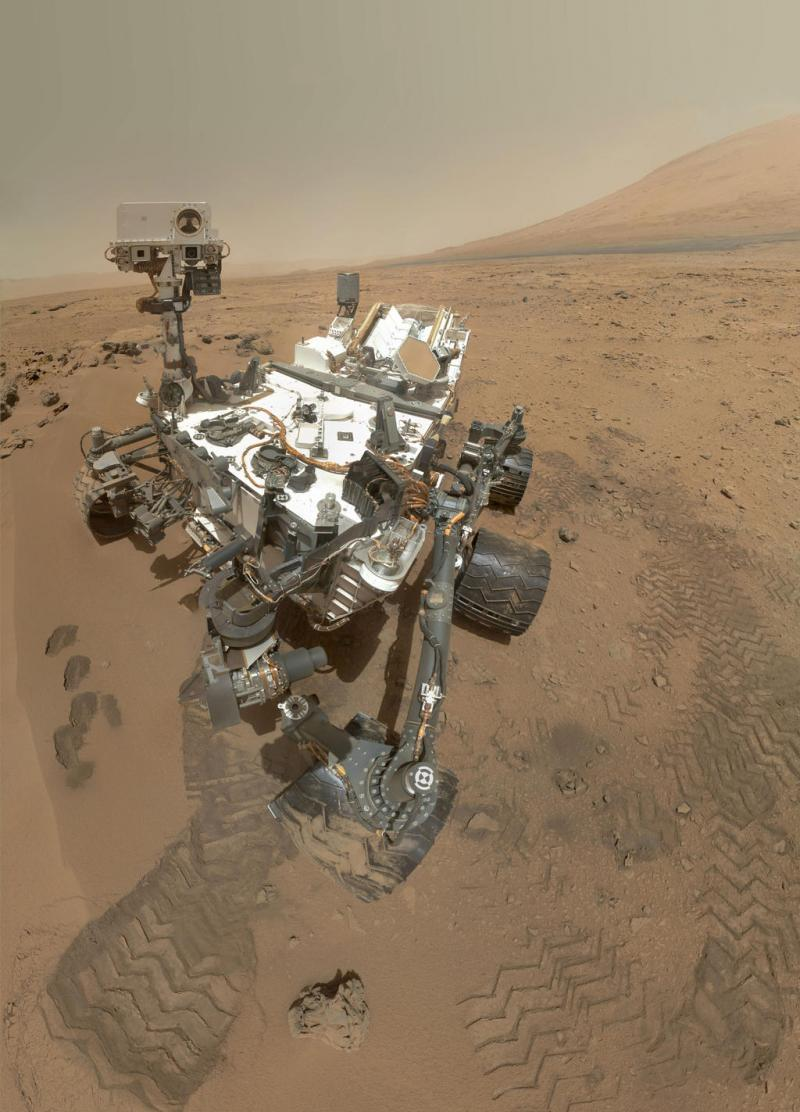 This is Curiosity ... on Mars