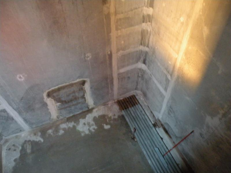 "Cracks that have been repaired inside chamber 12 of Pontoon V (nicknamed ""Valery"")"