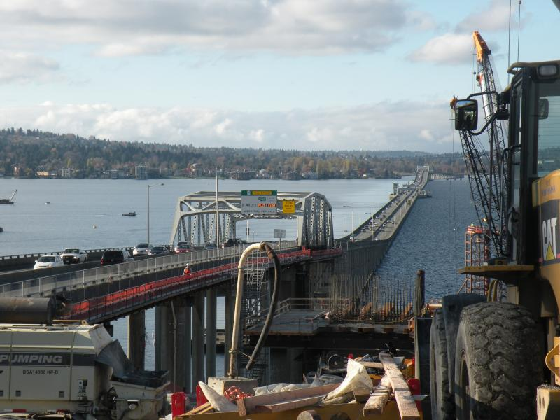 Construction on on the new 520 bridge across Lake Washington, just north of the old bridge. WSDOT says it wants to show more transparency as the repair process on cracked pontoons continues.