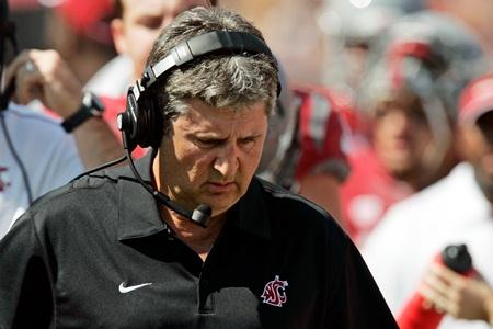 WSU football coach Mike Leach