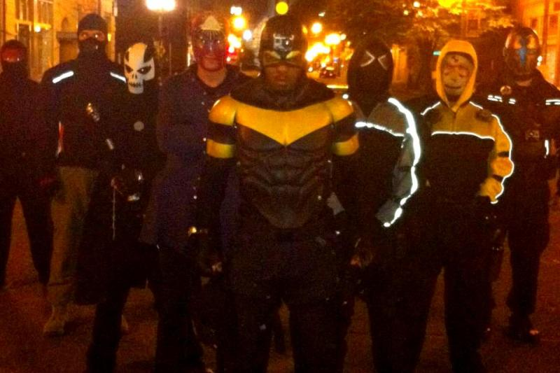 Phoenix Jones and his team of superheroes.