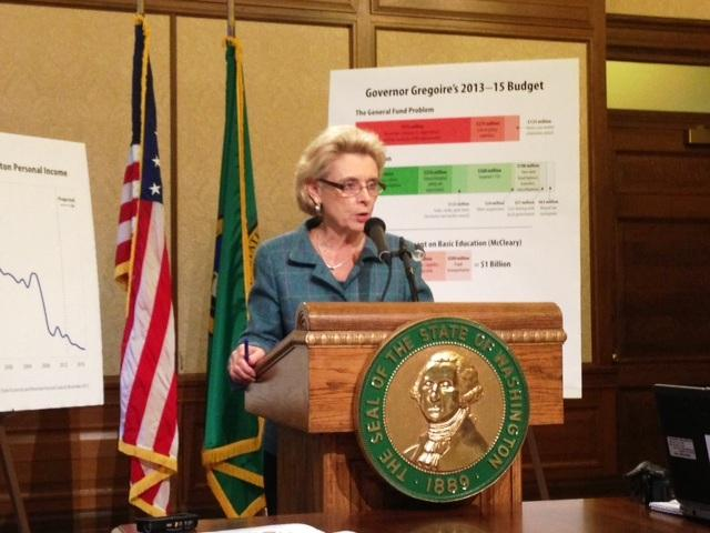 Gov. Chris Gregoire unveils her final budget before leaving office
