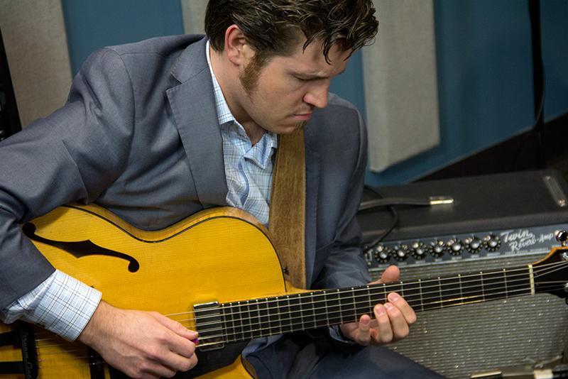 Graham Dechter performing live in the KPLU Seattle studios.