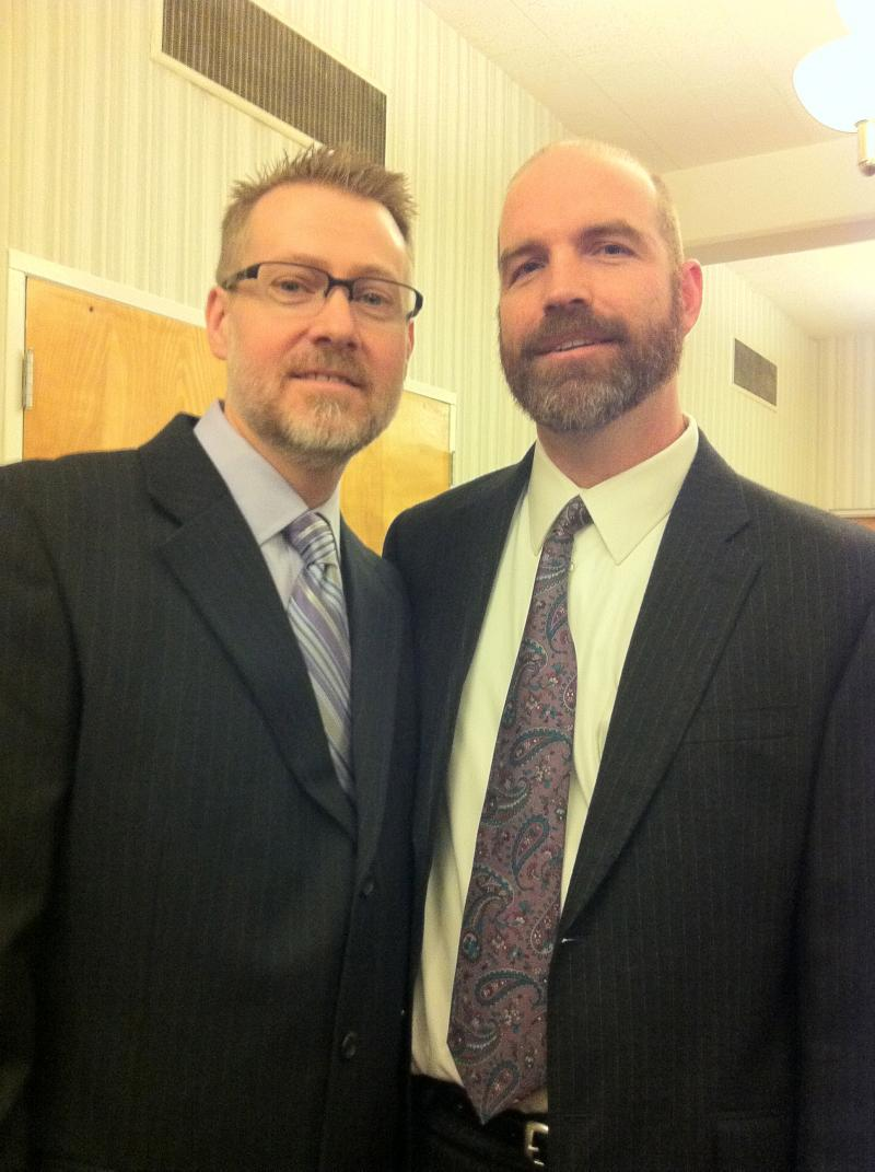 Newlyweds Scot Shurtleff and Stephen Lloyed