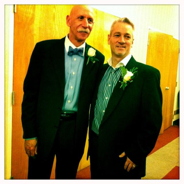 Newlyweds William Michael Gibson and Stephen Facer