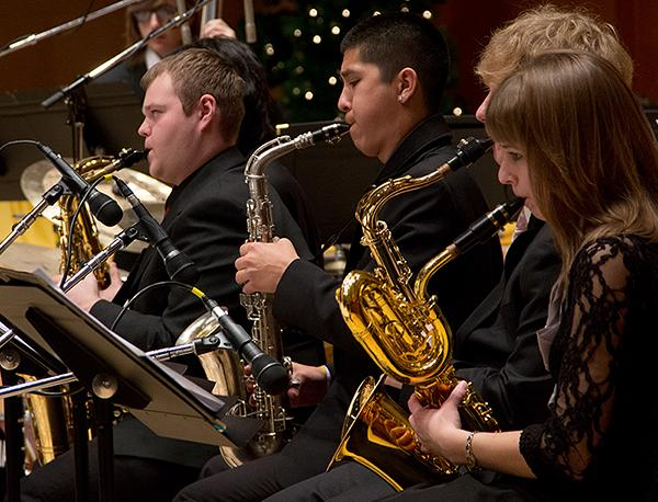 The PLU Jazz Ensemble performing live at the 16th Annual KPLU Christmas Jam on December 6, 2012.