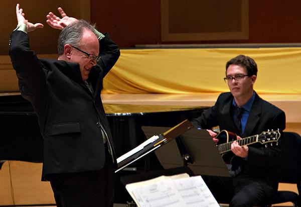 Dr. David Deacon-Joyner directs the PLU Jazz Ensemble on December 6, 2012.