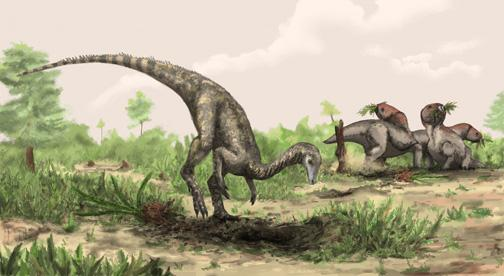 Artist rendering of Nyasasaurus parringtoni, either the earliest dinosaur or the closest dinosaur relative yet discovered. Nyasasaurus parringtoni was up to 10 feet long, weighed perhaps 135 pounds .