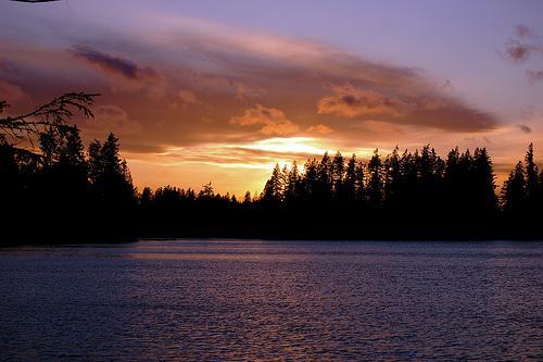 Sunset on Pine Lake in Sammamish