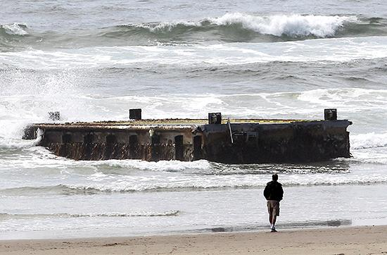 A Japanese dock that showed up on an Oregon beach earlier this year.