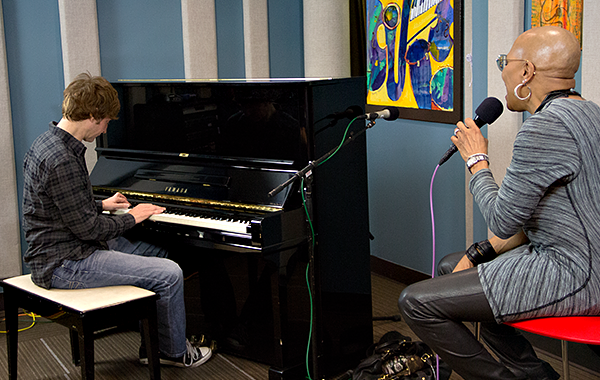 Dee Dee Bridgewater and Benny Green in the KPLU Seattle studios on January 22, 2013.