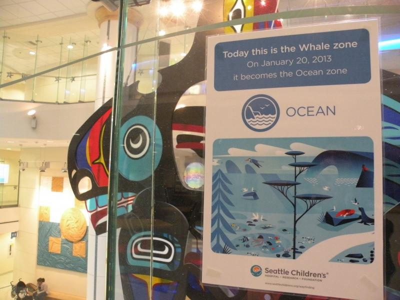 "The giant orca whale is still at Seattle Children's, but now it's part of the ""ocean"" zone"