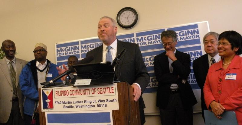 Leaders of community groups are backing Mayor Mike McGinn