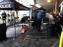 Seattle police collecting weapons at the city's first gun buyback event in 20 years.