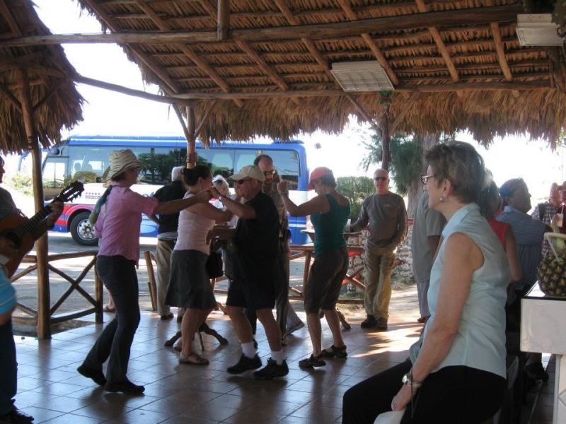 Pina Colada pit stop with dancing