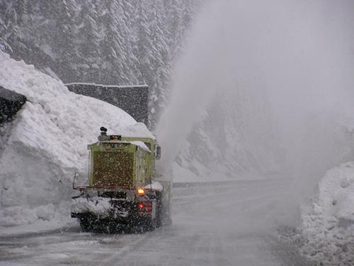 This scene near Snoqualmie Pass from March 19, 2012 could repeat itself this weekend
