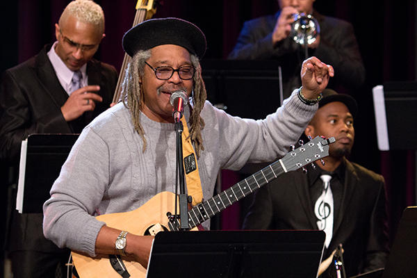 """Juan de Marcos (center) and the Afro-Cuban All Stars performing live on KPLU from the KCTS 9 studios on Feburay 5, 2013. <strong><a target=""""_blank"""" href=""""http://www.flickr.com//photos/42677472@N04/sets/72157632702213971/show/"""">See more photos</a></strong>"""