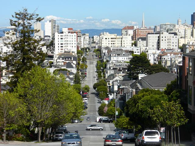 San Francisco is known for its hills and its density.