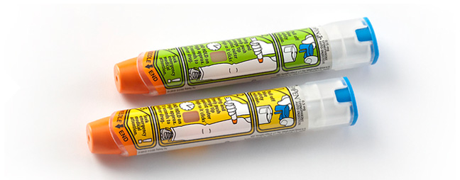 During a severe allergic reaction, this common brand of epinephrine injector could save a life