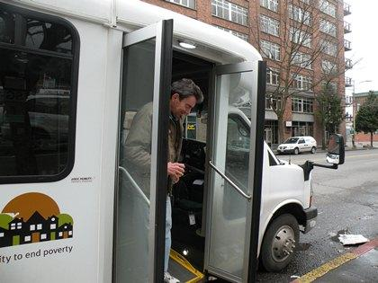 Ridership is growing on free shuttle bus operated by Solid Ground with a $400,000 grant from the city of Seattle.