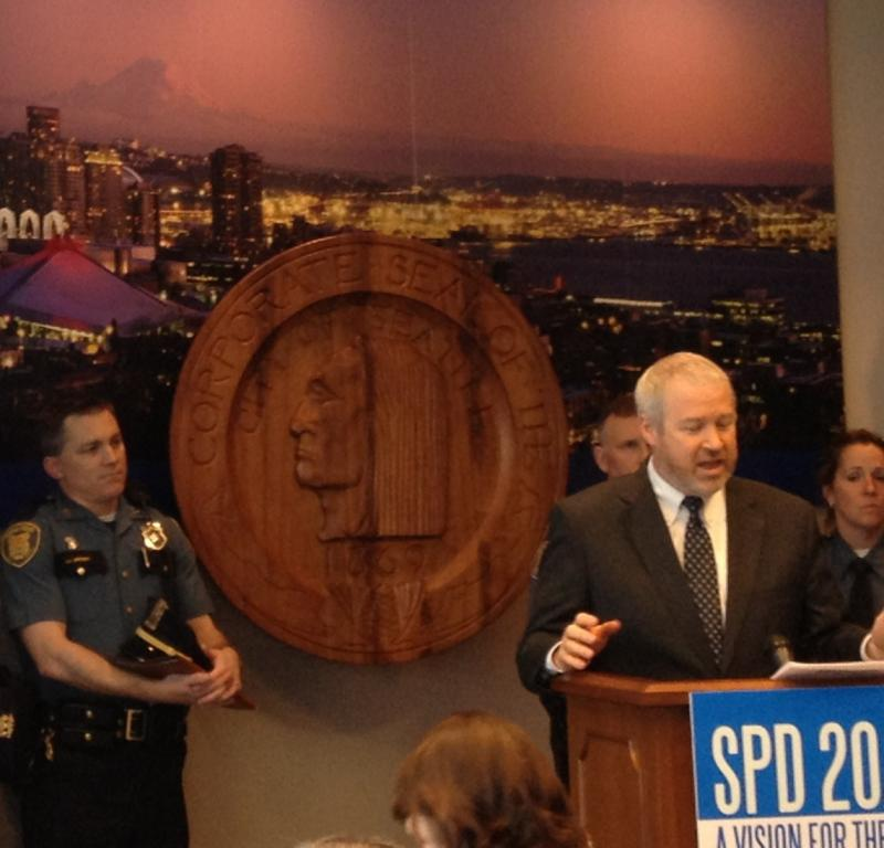 Mayor Mike McGinn introduced the new software at a press conference in Seattle on Wednesday.