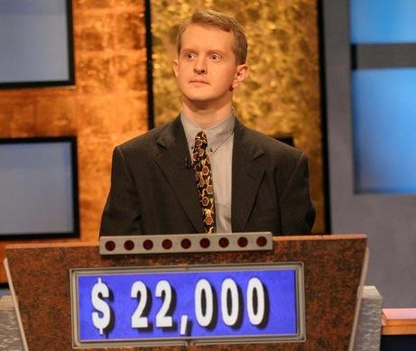 "Ken Jennings is seen on ""Jeopardy!"""