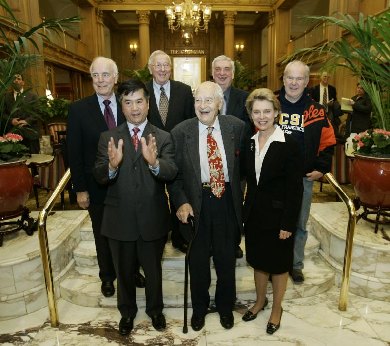 Former Washington Gov. Booth Garnder is seen with the state's other former governors.